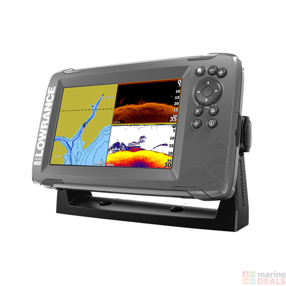 Lowrance HOOK2-7 CHIRP GPS/Fishfinder SplitShot Package