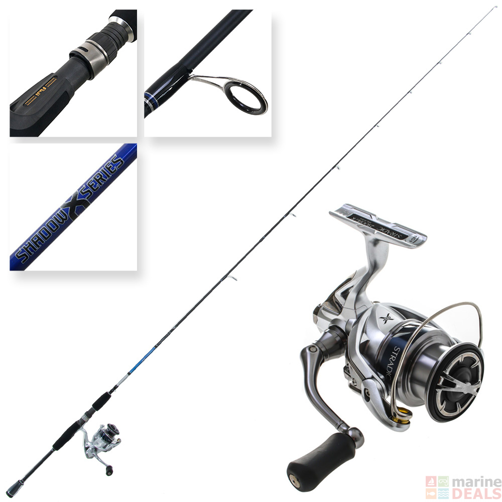 Shimano Stradic 2500 and Shadow X Nano Ultra Lite Inshore Spinning Combo  7ft 2-5kg 2pc