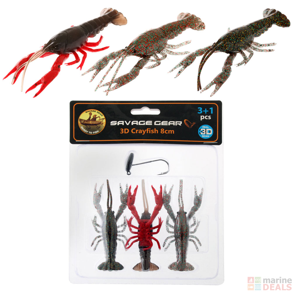 Savage Gear 3D Crayfish Lure Soft Baits ALL SIZES