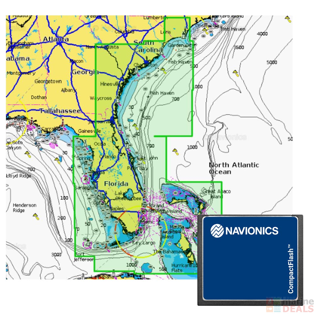 Navionics Platinum Plus XL3 CF Chart Card US Southeast and Bahamas