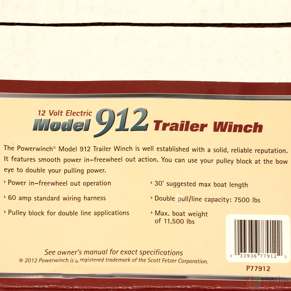 Buy Powerwinch 912 Trailer Winch 12v 10000lb online at ... on