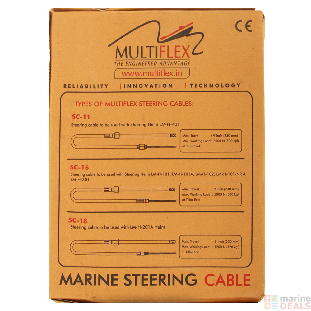 Buy Multiflex Connect Steering Cable Online At Marine