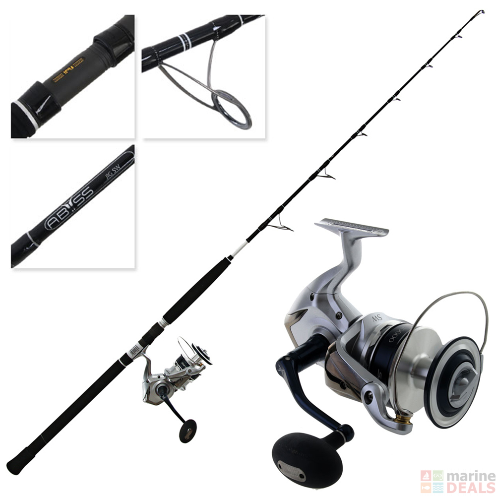 Shimano Saragosa SRG 20000 SW and Abyss SW Spin Jigging Combo 5'3'' PE8