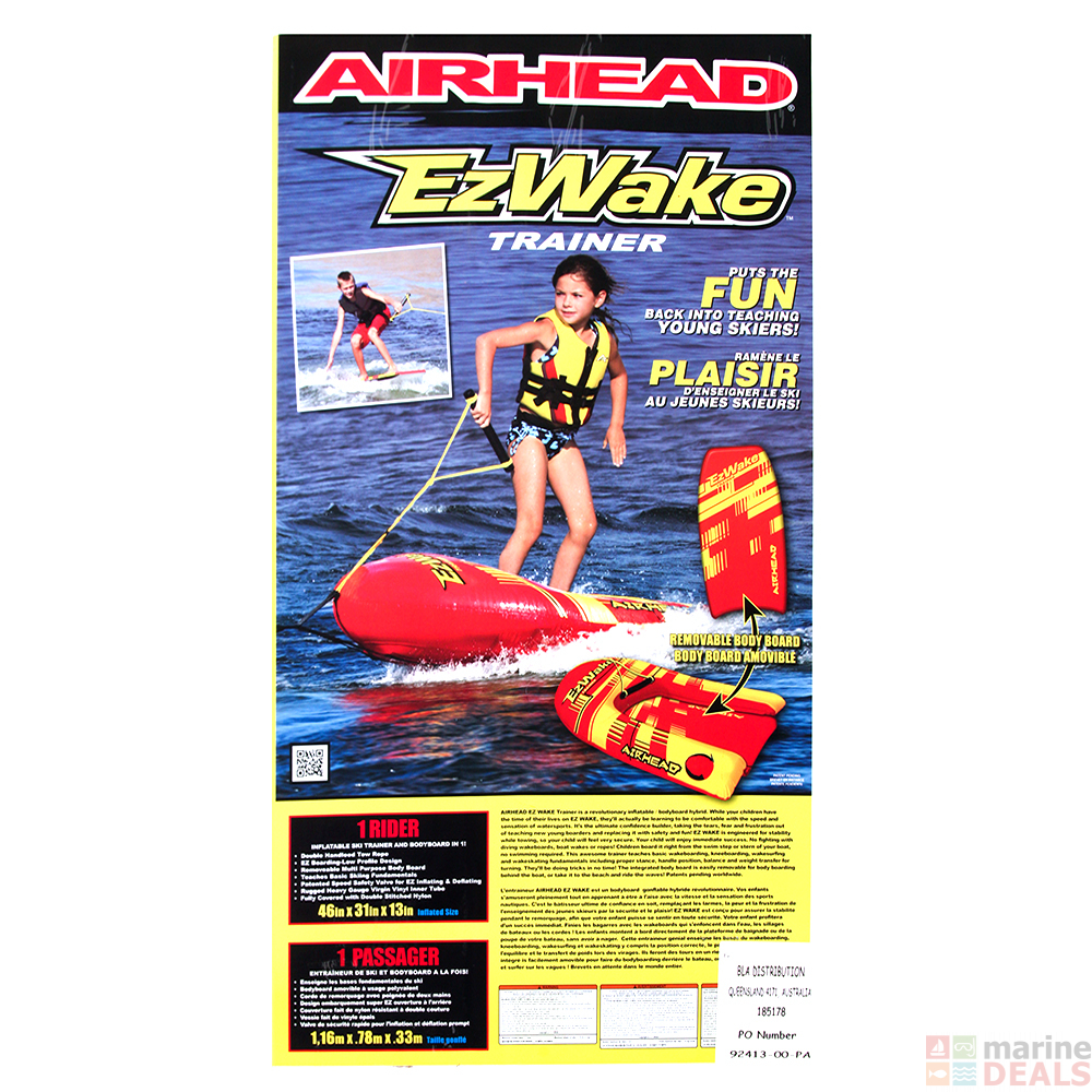 Buy Airhead Ez Wake Trainer Inflatable Towable Body Board Online At Towing Harness