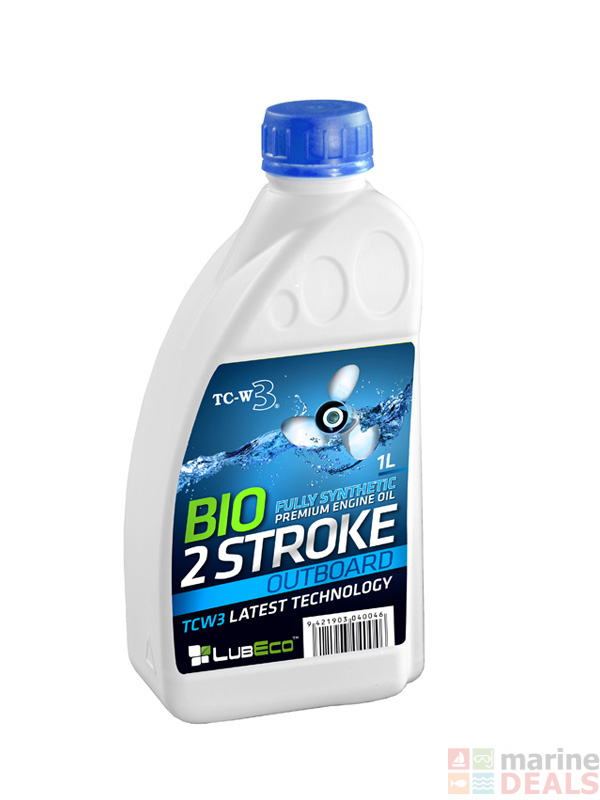 LUBECO TC-W3 Full Synthetic BIO 2T Outboard 2-Stroke Engine Oil 1L