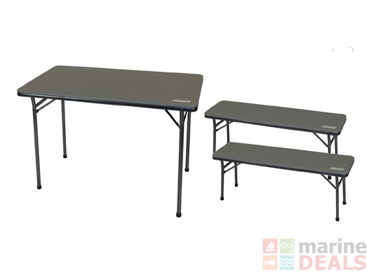 Buy Coleman Folding Table And Bench 3 Piece Set Online At Marine