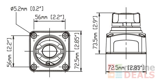 buy seaflo battery selector switch 2 position online at