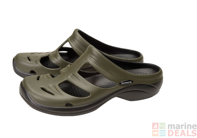 Buy Shimano Evair Boat Sandals Green Black US12 online at Marine ... 44f74f648c8