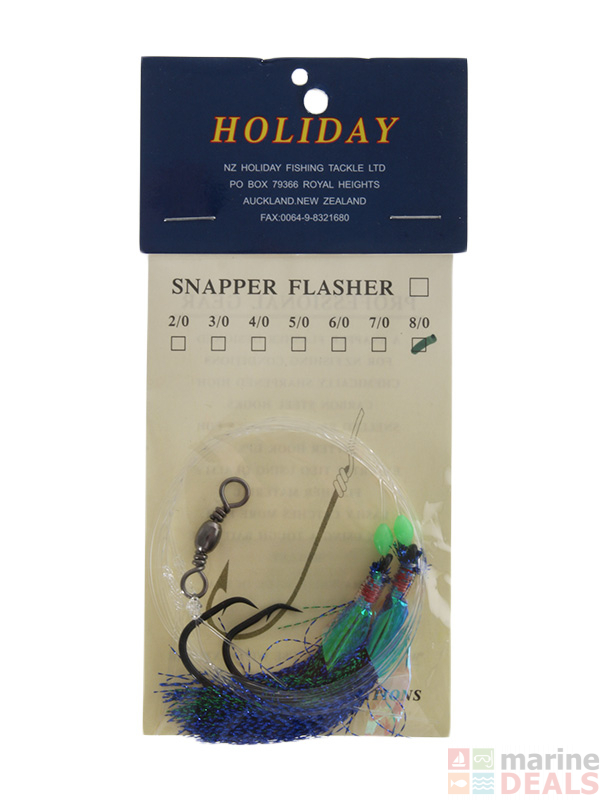 Buy Holiday Snapper Flasher Rigs online at Marine-Deals co nz