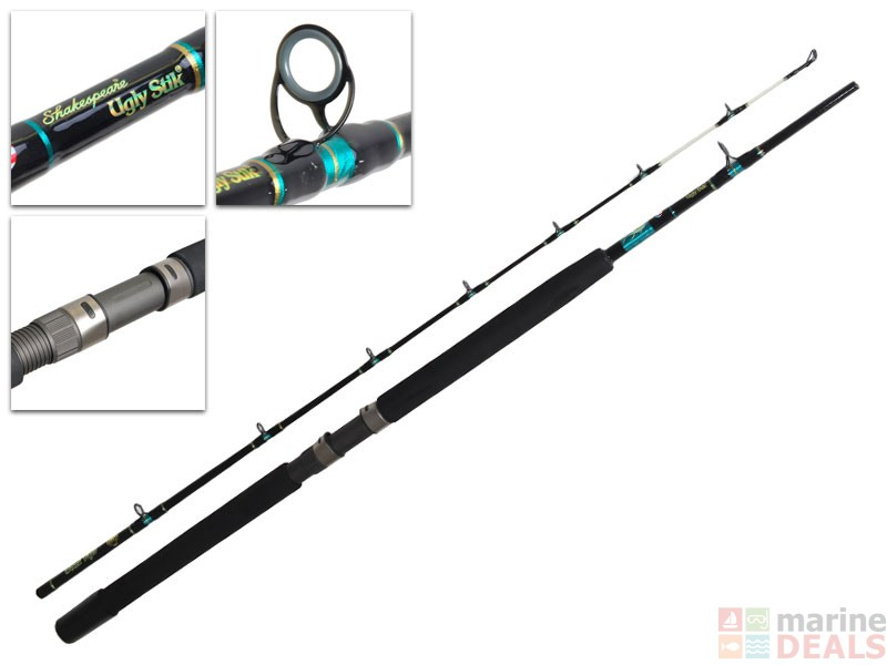 Buy ugly stik black tiger heavy duty 50lb overhead rod 7ft for Ugly stick fishing rods