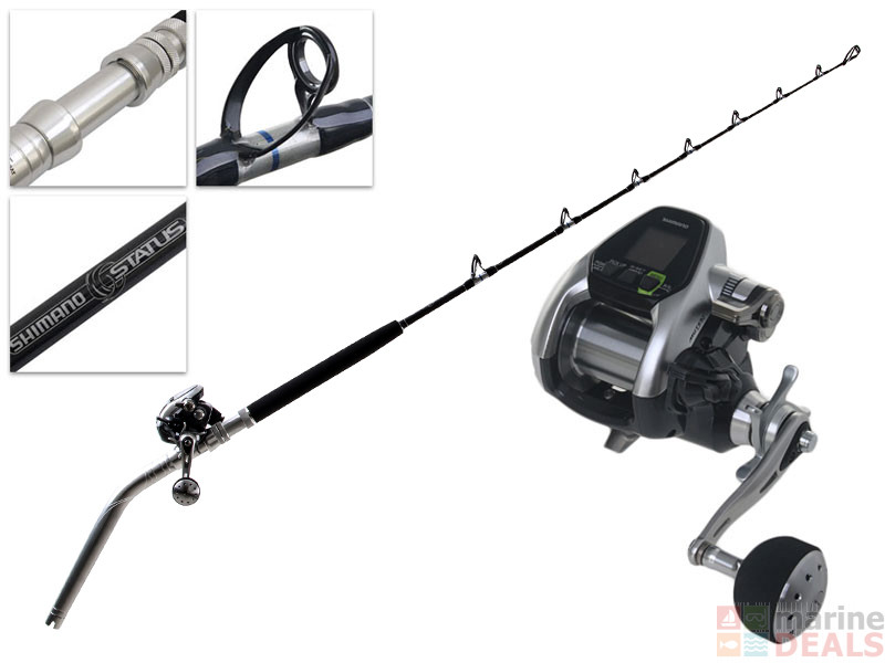 Buy shimano dendou maru forcemaster 3000 and status bent for Deep sea fishing rods and reels combo