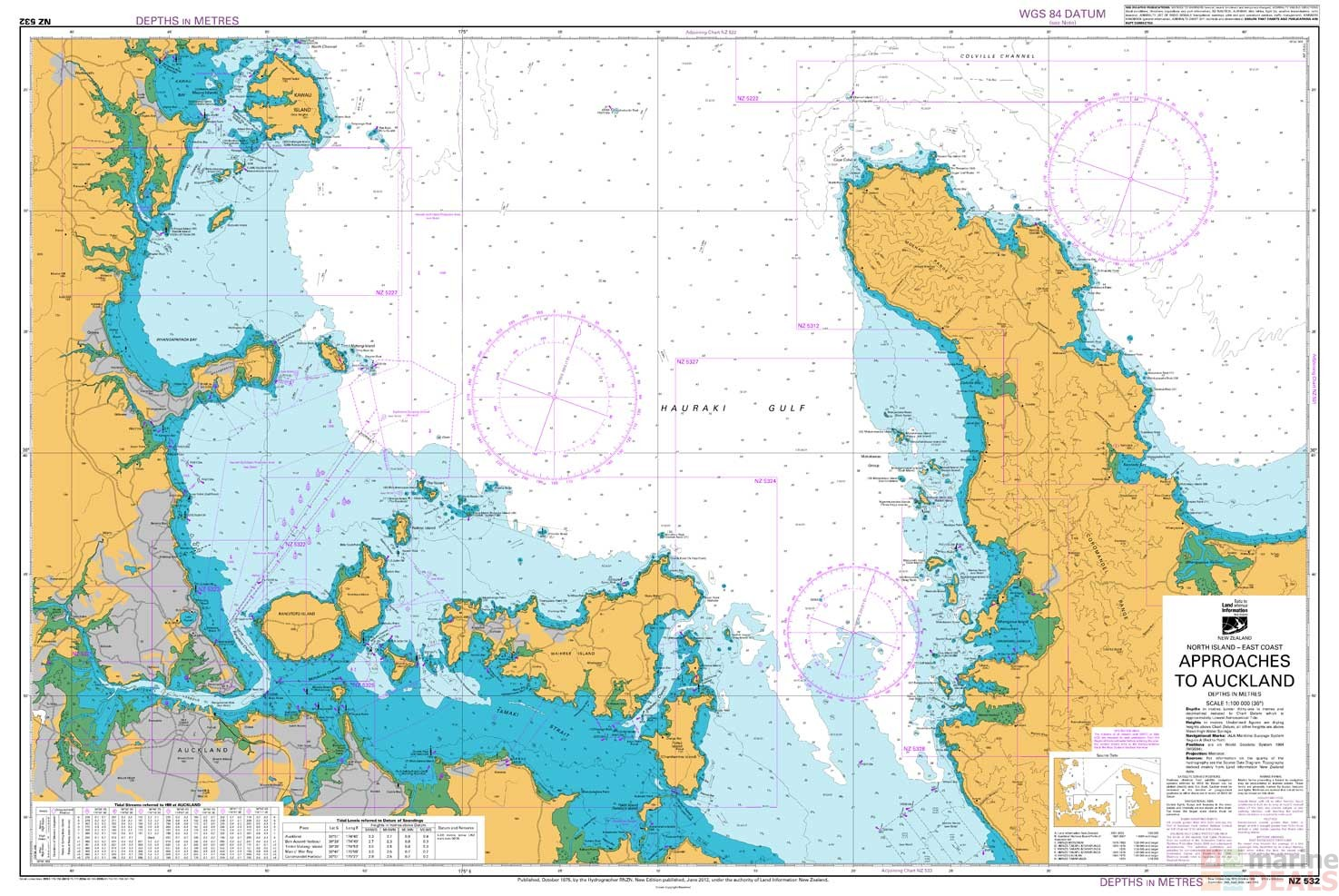 Buy NZ 532 Approaches to Auckland Chart online at Marine ...