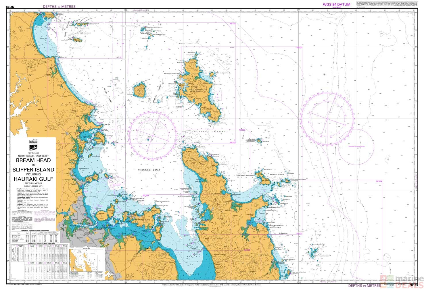 Buy NZ 53 Bream Head to Slipper Island including Hauraki Gulf Chart