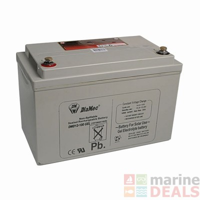 buy 12v 100ah deep cycle gel battery online at marine. Black Bedroom Furniture Sets. Home Design Ideas