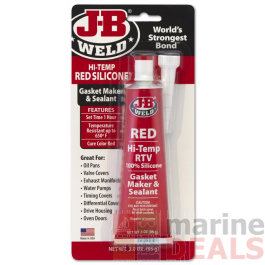 J-B Weld Red High Temp RTV Silicone Gasket Maker and Sealant