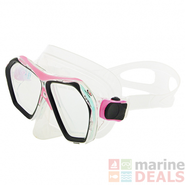 Neptune Signature Adult Dive Mask Clear/Pearl Pink