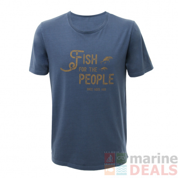 LegaSea X Barkers Fish For The People Mens T-Shirt Navy