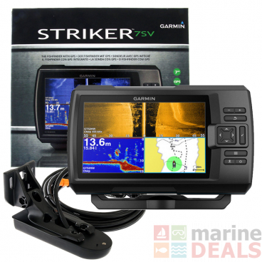 Garmin STRIKER Plus 7sv CHIRP ClearVu Fishfinder with GPS and GT52-TM Transducer