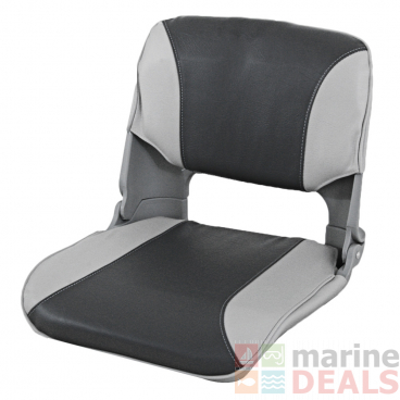Oceansouth Upholstered Folding Skipper Seat Grey/Charcoal