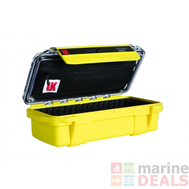 Underwater Kinetics 207 Weatherproof UltraBox Clear/Yellow with Lid Pouch and Padded Liner