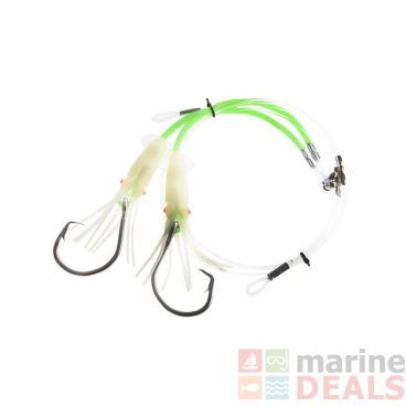 Sea Harvester Deluxe Hapuka Squid Rig 16/0 Green Lumo