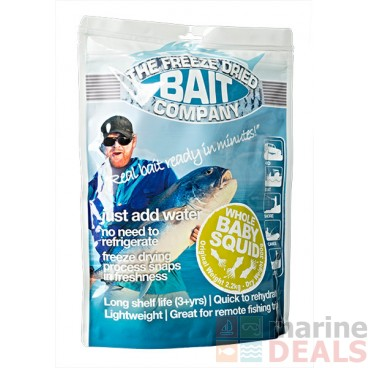 The Freeze Dried Bait Company Whole Baby Squid