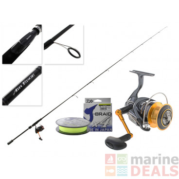 Daiwa Legalis 3000H and Air Edge Softbait Combo with X4 Braid 7ft 6in 6-10kg 2pc