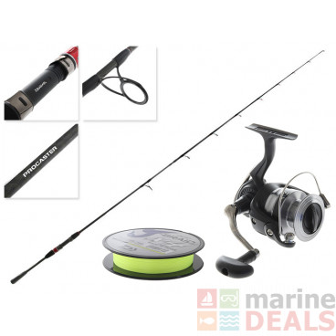 Daiwa RX BI-DA 4000 and Procaster Softbait Combo 7ft 3-6kg 2pc with Yellow Line