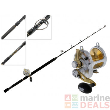 Shimano Talica 25 2-Speed and Tiagra Ultra Stand-Up Game Combo 5'4'' 50lb 1pc