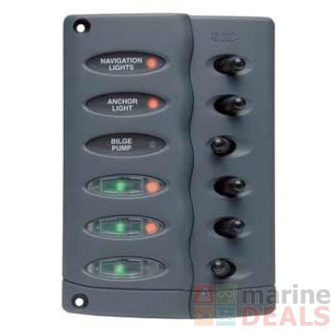 buy bep marine waterproof 6 way led switch panel with fuse online at rh marine deals co nz fuse box cover fuse box napa