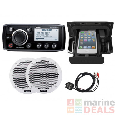 Fusion MS-RA205 Marine Stereo Package with Bluetooth and 6in Speakers