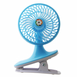 Kamisafe 2-Speed USB Rechargeable Fan with LED Blue 2.5W