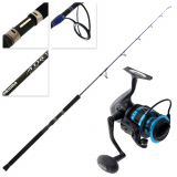 Okuma Azores XP 6000 Blue Spin Jigging Combo 5ft 2in 100-250g 1pc