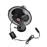Portable Oscillating Fan with Suction Mount Bracket 12VDC