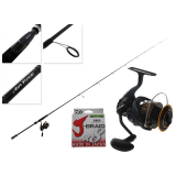 Daiwa BG16 3000 and Air Edge Softbait Combo with X4 Braid 7ft 6in 6-10kg 2pc