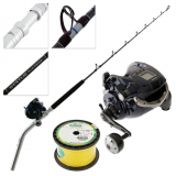 Shimano Forcemaster 9000A Status Bent Butt Electric Game Combo with Line 5ft 6in 24-37kg 2pc