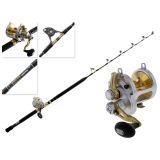 Shimano Talica 25 2-Speed and Tiagra Ultra Nano Alps Roller Game Combo 5ft 4in 50lb 2pc