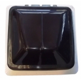Metal Frame Roof Vent (360mm x 360mm) - Smoke Dome