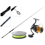 Daiwa Exceler 3000 Performance and Blue Backer LJ 662MHS Slow Jig Combo with Braid 6ft 6in PE1-3 2pc