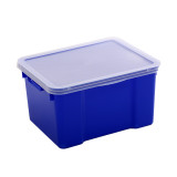 Heavy-Duty Plastic Fish Bin with Lid 30L