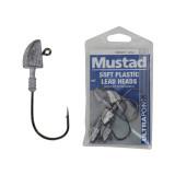Mustad Soft Plastic Lead Jig Heads 2/0 1/2oz Qty 5