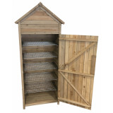 Wooden 5 Tier Smoke House with Removable Floor 1.8m