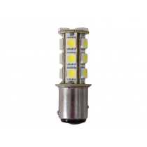 18 LED Bayonet Bulb Double Contact Non-Parallel Pins 12v