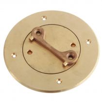 Perko Bronze Deck Plate with Key 4in I.D.