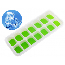 Silicone Ice Cube Tray with Lid Green