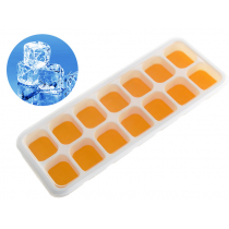 Silicone Ice Cube Tray with Lid Yellow