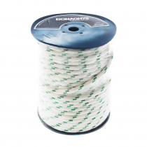 Donaghys Yachtmaster XS Cruising Braid Rope 14mm x 1m Green Fleck