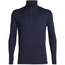 Icebreaker Merino Mens Original Long Sleeve Half Zip Midnight Navy