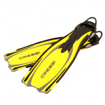 Cressi Reaction EBS Open Heel Dive Fins Yellow/Silver