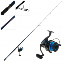 Daiwa Saltist 6500 and Saltist Demon Blood Stickbait Combo with Line 8ft PE 4-6 4pc